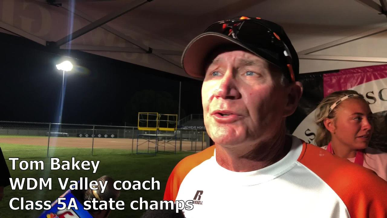 West Des Moines Valley's Tom Bakey named 2019 All-Iowa softball coach of the year