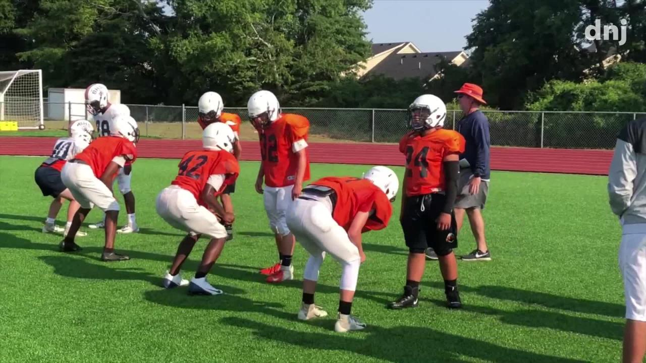 First Day In Pads Blackman Football Practice