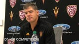 ASU offensive coordinator Rob Likens on tight ends, QB competition