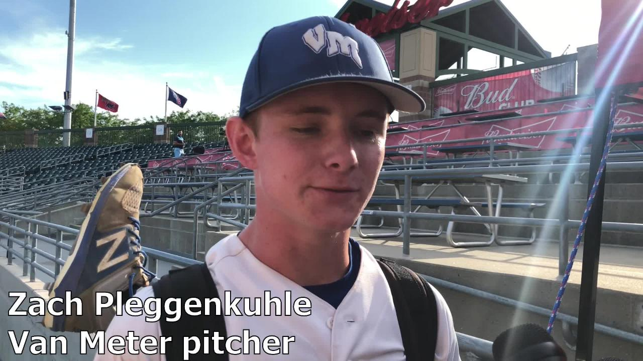 Zach Pleggenkuhle strikes out 17 and Van Meter beats West Sioux to reach Class 2A state title game