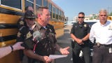 Vanderburgh County Sheriff David Wedding and other officials announced stepped up enforcement for violations of school bus stop arms.