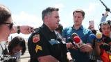 El Paso Police Sgt. Robert Gomez briefs media on El Paso shooting on Saturday, Aug. 3, 2019.