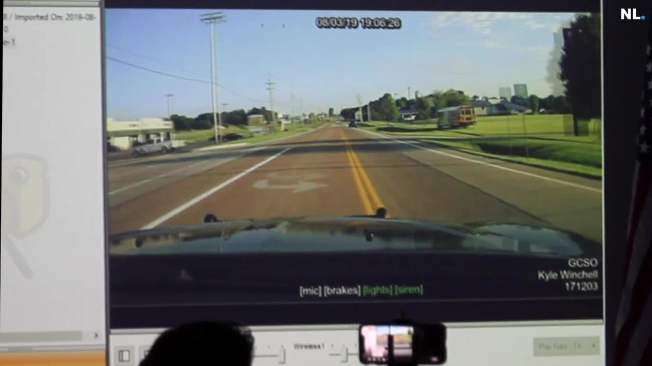 Dash cam video shows suspect in fatal accident fleeing from Greene County  deputy