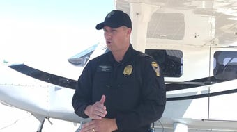 OSP Aviation Commander Lt. Justin Cromer discusses his section's role in a target on distracted driving in Licking County.