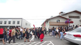 Friends and family of Stonechild Chiefstick march through Poulsbo on Saturday, August 10.