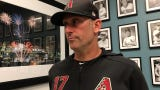 Diamondbacks manager Torey Lovullo talks about his offense's quiet night against the Dodgers and starter Kenta Maeda on Saturday.