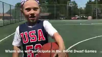 Jayci Simon, 14, has a rare form of dwarfism. But the St. Johns native doesn't let it stop her from playing sports. She's 3 feet, 9.75 inches tall.
