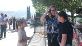 Parents bring in their children in the first day of school at White Oak Elementary School in Simi Valley.