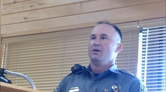 New Mexico Game officer Curtis Coburn explains that feeding wildlife can bring mountains lions into Ruidoso.