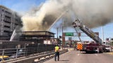 A major fire in north Tempe shut traffic in both directions on  Scottsdale Road near Loop 202 Wednesday afternoon.