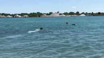 This exercise on Wednesday, Aug. 14, 2019, was part of the training for the city's firefighters to get certified in public safety rescue diving. It's the city's first underwater rescue team.