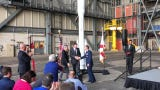 Ribbon cutting ceremony at VAB to welcome Northrop Grumman's Omega rocket