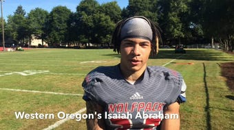 Western Oregon's Isaiah Abraham, a defensive back and outside linebacker from Central High School, talks about the Wolves' goals this season.