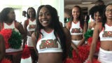 WATCH: Rattler football cheerleaders get the crowd hype during FAMU Fan Day.