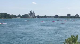 An estimated 5,500 people got in the water on Sunday, Aug. 18, 2019, for the annual Port Huron Float Down.