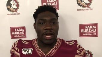 WATCH: Seminoles defensive lineman Janarius Robinson discusses the outlook for the 2019 season at FSU Media Day