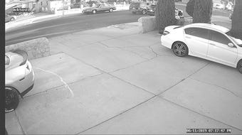 Home security camera recorded a man vandalizing a parked El Paso County constable vehicle in El Paso on Aug. 11, 2019, authorities say.