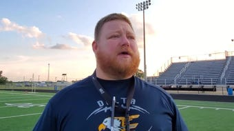 Delta football coach Chris Overholt discusses replacing leadership, a strong offensive group and expectations for the season.