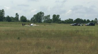 Police and emergency officials are on the scene of a plane crash Tuesday that killed two people.