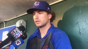 Albert Almora Jr., talks about coming back to the minors.