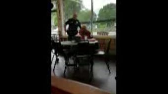 In a short video provided by Cindy Young, an officer believed to work for the Belton Police Department threatens to take Young's phone as she films.