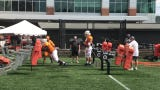Tennessee coach Jeremy Pruitt focused an entire period of Wednesday's practice on two new defensive linemen