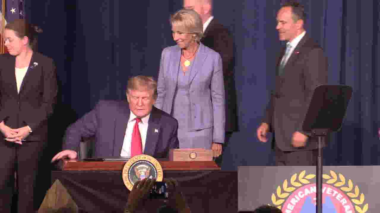 Trump signs order to expedite forgiving student loan debt for disabled veterans