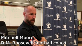 Roosevelt coach Mitchell Moore talks about what brought him to Des Moines and the challenges of building up a city school.