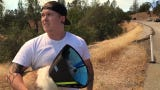Redding man rescues two dogs from the Mountain Fire northeast of Redding.