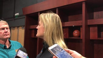 Tennessee Lady Vols coach Kellie Harper led UT to a 3-0 record in Europe in early August.
