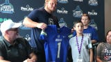 UWF football signed 9-year-old Logan Bush from Milton as part of TEAM Impact celebrations, which look to connect children living with chronic illness with college athletic programs.