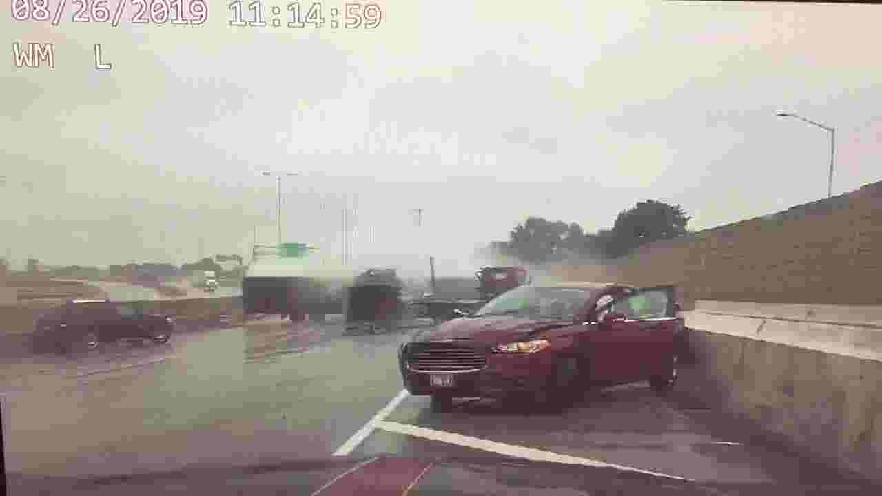 Sheriff releases video of semi crash on Mitchell Interchange