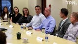 U.S. Congressman Mac Thornberry met Tuesday with several young business professionals from the Wichita Falls area.