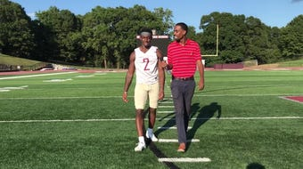 100 yards with senior football player Junior Smith of Westside