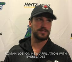 Nashville Predators All-Star defenseman Roman Josi was one of 22 NHL players at Darryl Belfry's camp at Hertz Arena from Aug. 26-30, 2019.