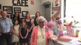 Friends gathered Saturday at the T&A Cafe in Spreckels to wish Margaret Schlyter a happy 100th birthday.