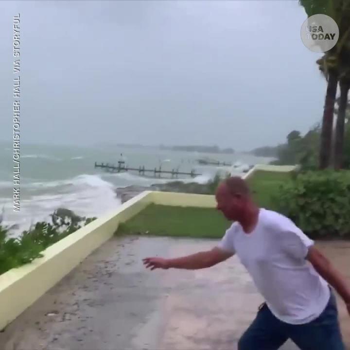 'Life-threatening' Hurricane Dorian hits the Bahamas