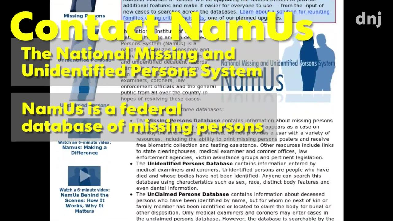 Cold cases: NamUS is working to find missing people in Tennessee