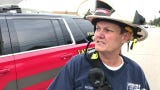 Lansing Fire Battalion Chief Shawn Deprez gives an update on the Atmosphere Annealing plant fire on Mt. Hope  Avenue.