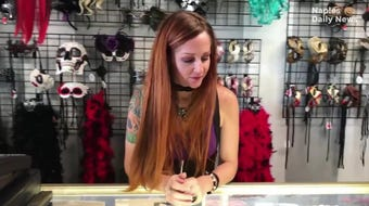 Red Headed Witches owner Crissy Barchers previews the amenities of her shop.