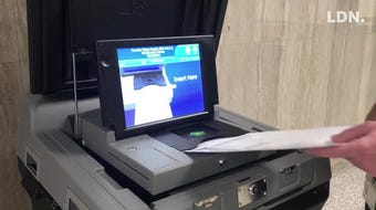 Watch as the new ballot scanners in Lebanon County work in advance of the upcoming elections.