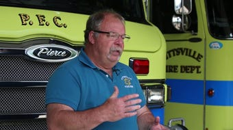 Pittsville Fire Department acquires new gas detector in response to death of former farmer and friend of department, Pete Petersen.
