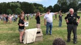 Ohio Wildlife Center released a bald eagle nicknamed J.R. Friday at Lake Park. The eagle was found sick July 23 on the side of U.S. 36.