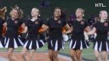 Northville High varsity pompon performs on Sept. 6 at halftime of the Mustang's game