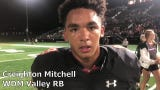 Running back Creighton Mitchell ran hard in Valley's Week 2 win over Dowling Catholic.