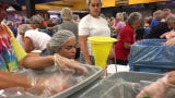 Volunteers pack meals for Hurricane Dorian victims in the Bahamas at Naples High School on Saturday, September 7, 2019. Meals of Hope sponsors this meal packing event to benefit the victims of Hurricane Dorian.
