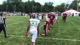 Junior tailback Donald Coaxum III scores his third touchdown, a 2-yard run, in New Milford's 19-7 NJIC football win at Pompton Lakes on Sept. 7, 2019.