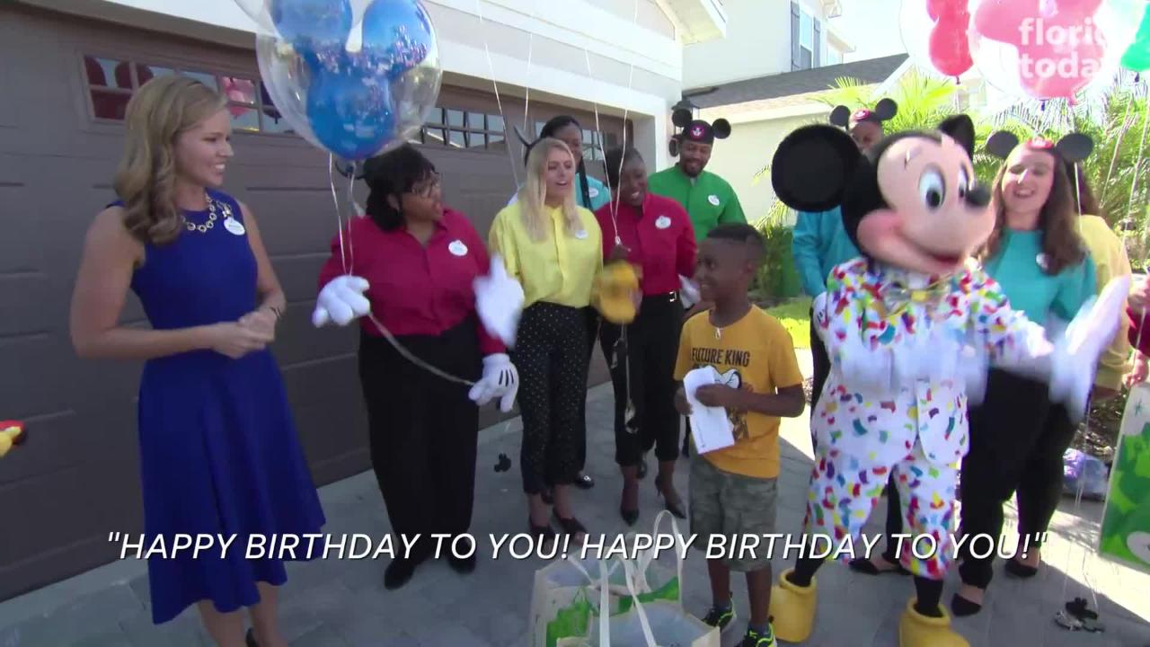 Disney thanks boy who helped Hurricane Dorian victims, with a trip to Disney