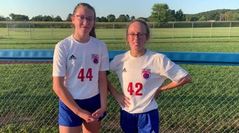 Carleigh Lane and Haynna Addy talk about their goals, team work , and next game against Westfall.