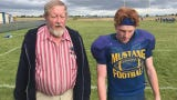 Great Falls Central senior Jackson Malsam takes the 100-yard walk with Tribune Sports Writer/Reporter Lee Vernoy.